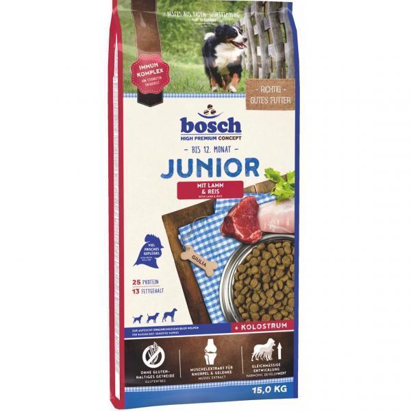 Bosch Junior Lamb & Rice сухой корм для щенков с чувствительным пищеварением 15 кг