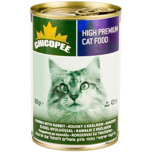Chicopee Cat Chunks Rabbit Консервы для кошек Кролик в соусе