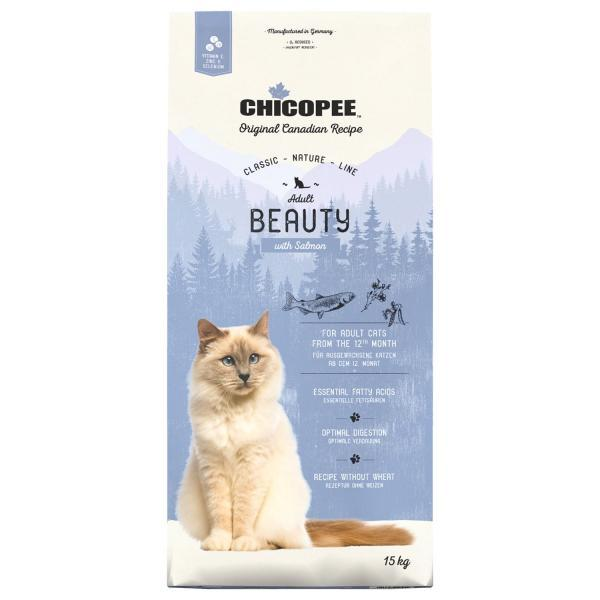 Chicopee CNL Cat Adult Beauty Сухой корм для кошек Лосось