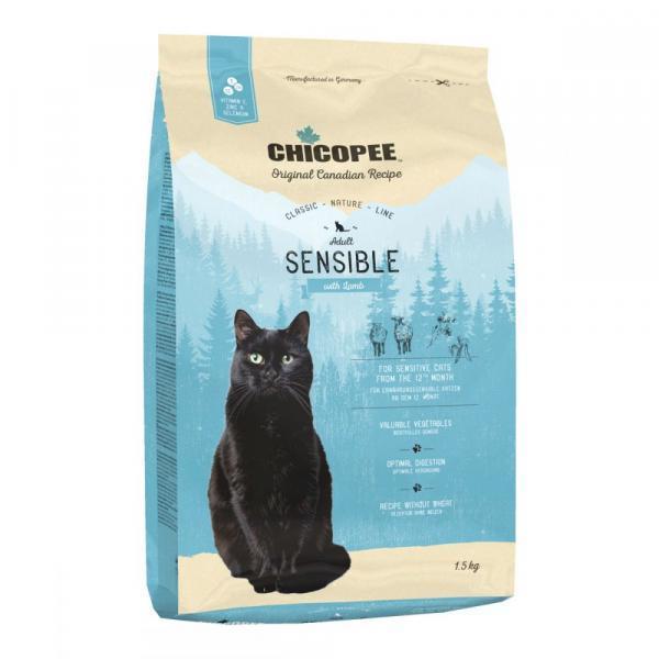 Chicopee CNL Cat Adult Sensible Сухой корм для кошек с чувствительным пищеварением Ягненок