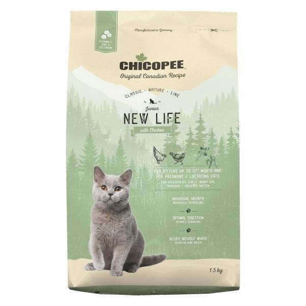 Chicopee CNL Cat Junior New Life Сухой корм для котят Курица