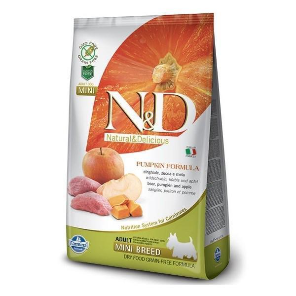 Farmina N&D GF Adult Mini беззерновой сухой корм кабан, яблоко и тыква для собак маленьких пород 7 кг