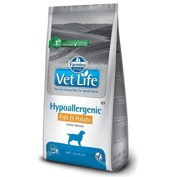 Farmina Vet Life Hypoallergenic Fish & Potato диетический сухой корм с рыбой и картофелем для собак с пищевой аллергией 12 кг