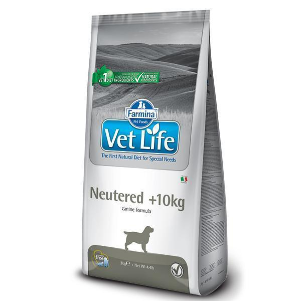 Farmina Vet Life Neutered +10kg диетический сухой корм для кастрированных или стерилизованных собак (весом более 10 кг) 12 кг