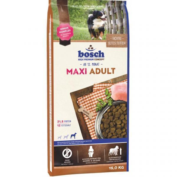 Bosch Adult Maxi сухой корм для взрослых собак крупных пород 15 кг