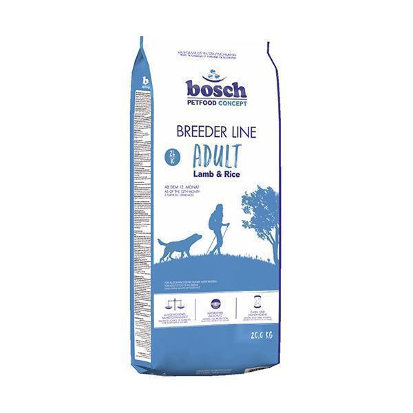 Bosch BreederLine Adult сухой корм для взрослых собак с ягнёнком и рисом 20 кг