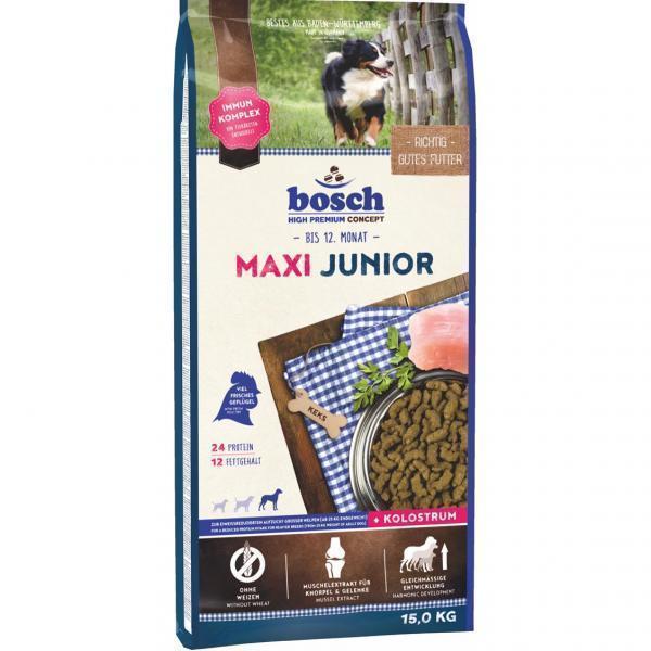 Bosch Junior Maxi сухой корм для щенков крупных пород и щенков с массивным костяком 15 кг