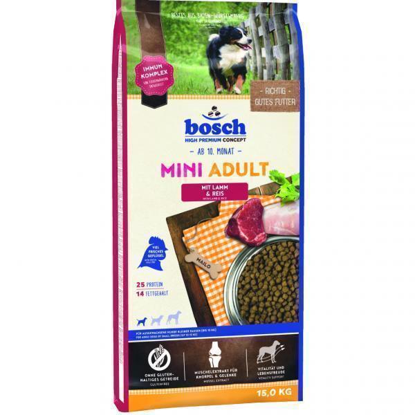 Bosch Mini Adult Lamb & Rice сухой корм для взрослых собак маленьких пород 15 кг