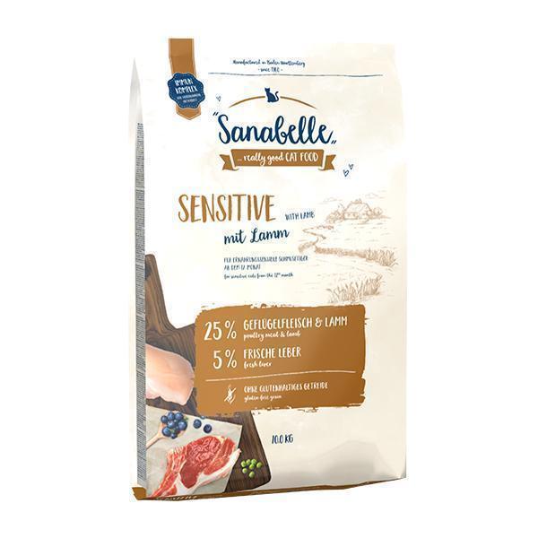 Bosch Sanabelle Sensitive with Lamb сухой корм для взрослых кошек с чувствительным пищеварением с Ягненком 10 кг