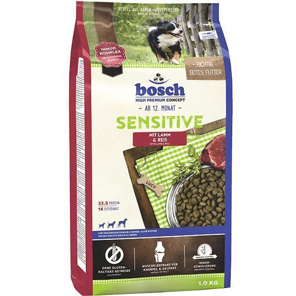 Bosch Sensitive Lamb & Rice сухой корм для взрослых собак, склонных к аллергии 15 кг