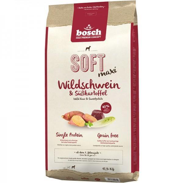 Bosch Soft Maxi кабан батат полувлажный корм Holistic+ для собак крупных пород с чувствительным пищеварением 12,5 кг