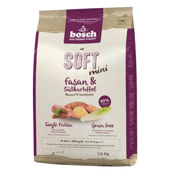Bosch Soft Mini фазан батат полувлажный корм Holistic+ для собак маленьких пород с чувствительным пищеварением 2,5 кг