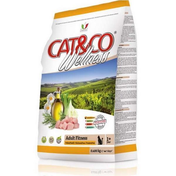 Cat&Co Wellness Adult Fitness Pollo & Piselli сухой корм для кошек с курицей и горохом
