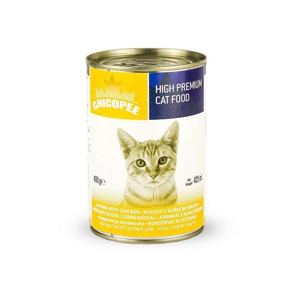 Chicopee Cat Chunks Chicken Консервы для кошек Курица в соусе