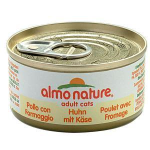 Almo Nature Classic Adult Cat Chicken & Cheese консервы для кошек с курицей и сыром 70 г х 24 шт