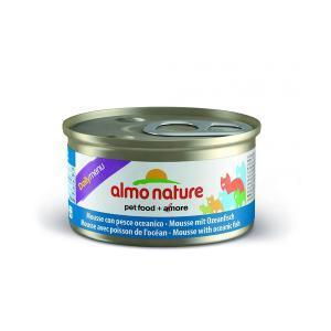 Almo Nature Daili Menu Mousse Oceanic fish консервы для кошек с океанической рыбой в форме мусса 85 г х 24 шт
