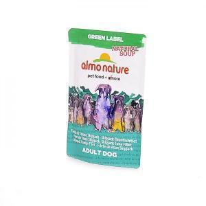 "Almo Nature Green Label Natural Soup Dog Skip Jack Tuna Fillet холистик-суп для собак ""Филе полосатого тунца"" 140 г"