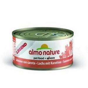 Almo Nature Legend Adult Cat Salmon & Carrot консервы для кошек с лососем и морковкой 70 г х 24 шт