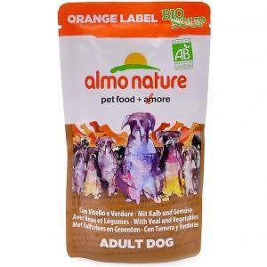 Almo Nature Orange label Bio Soup Veal&Vegetables органик-суп для собак с телятиной и овощами 140 г