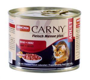 Animonda Carny Adult консервы для кошек с говядиной и сердцем / 200г*6шт