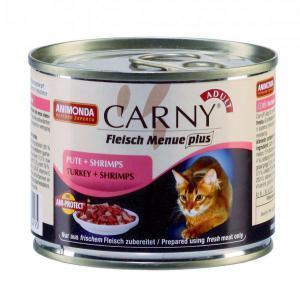 Animonda Carny Adult консервы для кошек с индейкой и креветками / 200г*6шт