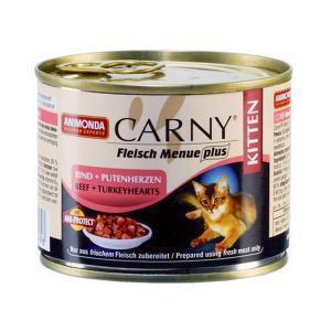 Animonda Carny Kitten консервы для котят с говядиной и сердцем индейки 200 г (6 штук)