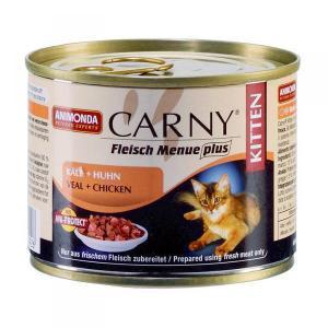 Animonda Carny Kitten консервы для котят с телятиной и курицей 200 г (6 штук)