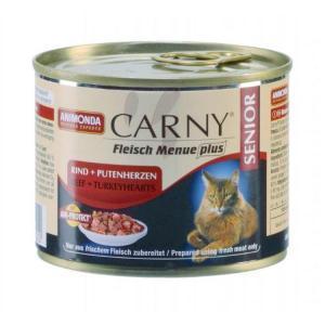 Animonda Carny Senior консервы для кошек старше 7 лет с говядиной и сердцем индейки 200 г (6 штук)