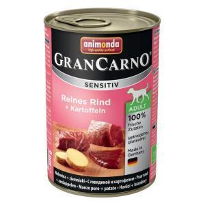 Animonda GranCarno Sensitiv консервы для собак с чувствительным пищеварением говядина и картофель 400 г х 6 шт