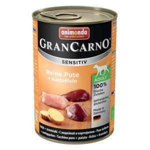 Animonda GranCarno Sensitiv консервы для собак с чувствительным пищеварением индейка и картофель 400 г х 6 шт
