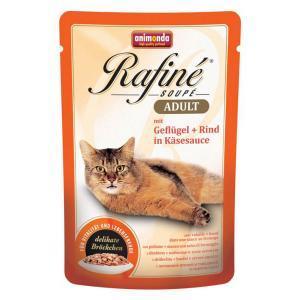 Animonda Rafine Soupe Adult консервы для кошек с домашней птицей и говядиной в сырном соусе 100 г х 24 шт
