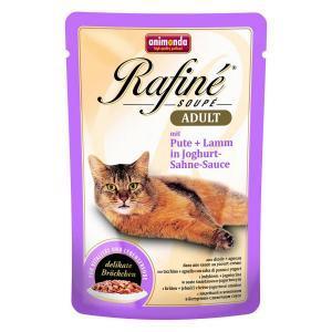 Animonda Rafine Soupe Adult консервы для кошек с индейкой и ягненком в йогуртово-сливочном соусе 100 г х 24 шт