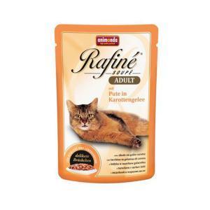 Animonda Rafine Soupe Adult консервы для кошек с индейкой в морковном желе 100 г х 24 шт