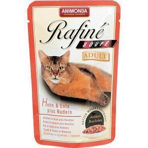 Animonda Rafine Soupe Adult консервы для кошек с курицей, уткой и пастой 100 г х 24 шт