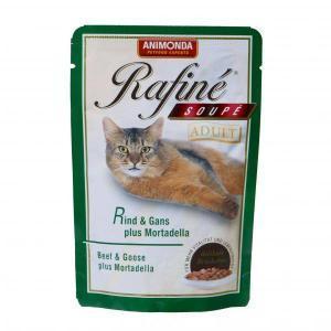 Animonda Rafine Soupe Adult консервы для взрослых кошек из говядины, мяса гуся и яблок 100 г х 24 шт