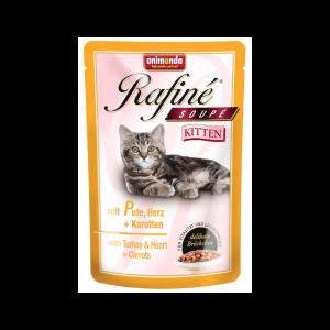 Animonda Rafiné Soupé Kitten консервы для котят из мяса индейки, сердца и моркови 100 г х 24 шт
