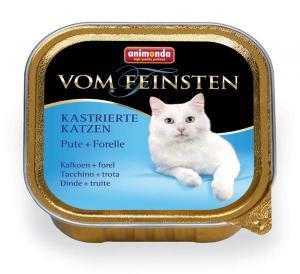 Animonda Vom Feinsten Adult для стерилизованных кошек Индейка/форель 100г*32шт