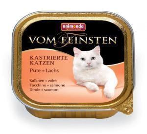 Animonda Vom Feinsten Adult для стерилизованных кошек Индейка/лосось 100г*32шт