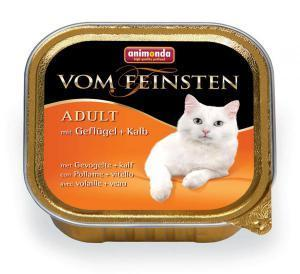 Animonda Vom Feinsten Adult с домашней птицей и телятной для кошек 100г*32шт