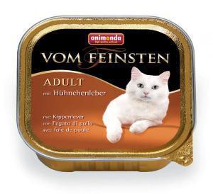 Animonda Vom Feinsten Adult с куриной печенью для кошек 100г*32шт