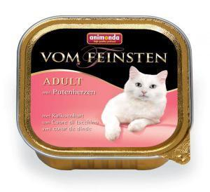 Animonda Vom Feinsten Adult с сердцем индейки для кошек 100г*32шт