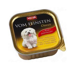 Animonda Vom Feinsten Classic консервы для собак с говядиной и сердцем индейки 150 г (22 штуки)