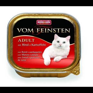 Animonda Vom Feinsten консервы для кошек с говядиной и картошкой 100 г (32 штуки)