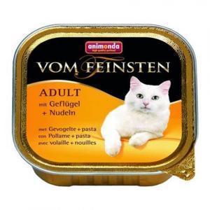 Animonda Vom Feinsten консервы для кошек с мясом домашней птицы и пастой 100 г (32 штуки)