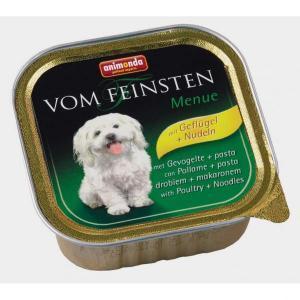 Animonda Vom Feinsten Menue консервы для собак с мясом домашней птицы и пастой 150 г (22 штуки)