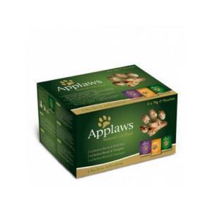 Applaws Cat Chicken Multi Pouch консервы для кошек с курицей набор паучей 70 г (6 штук)