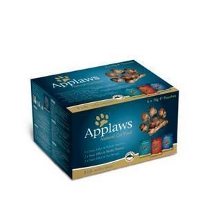 Applaws Cat Fish Multi Pouch консервы для кошек с рыбой набор паучей 70 г (6 штук)
