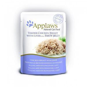 Applaws cat pouch chicken with liver in jelly консервы для кошек с курицей и печенью в желе 70 г х 16 шт