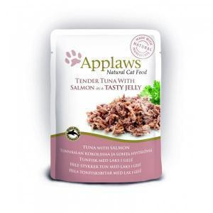 Applaws Cat pouch tuna wholemeat with salmon in jelly консервы для кошек с лососем в желе 70 г х 16 шт