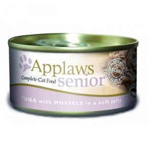 Applaws Senior Cat Tuna with Mussels in Jelly консервы для пожилых кошек с тунцом и мидиями 70 г х 24 шт